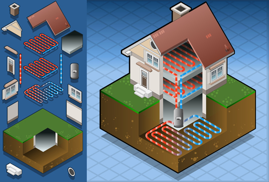 Geothermal heating is a type of energy that is used to cut energy ...