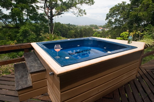 Hot tub skirting corners handyman talk local blog for Types of hot tubs