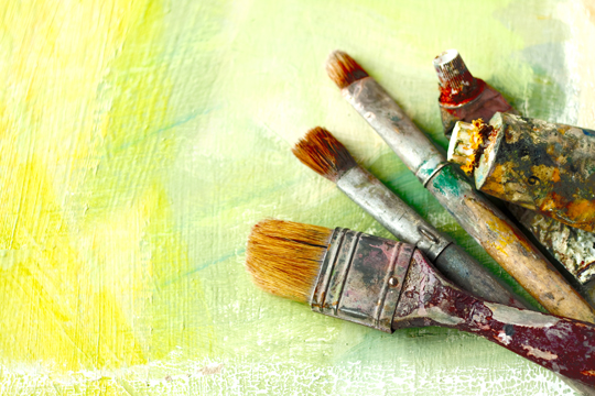 Types of paint brushes painters talk local blog for Different types of paint for art