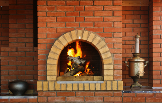 Clean Sandstone Fireplace - Maid Services