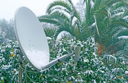 How to Keep Snow Off Satellite Dish - Snow Removal